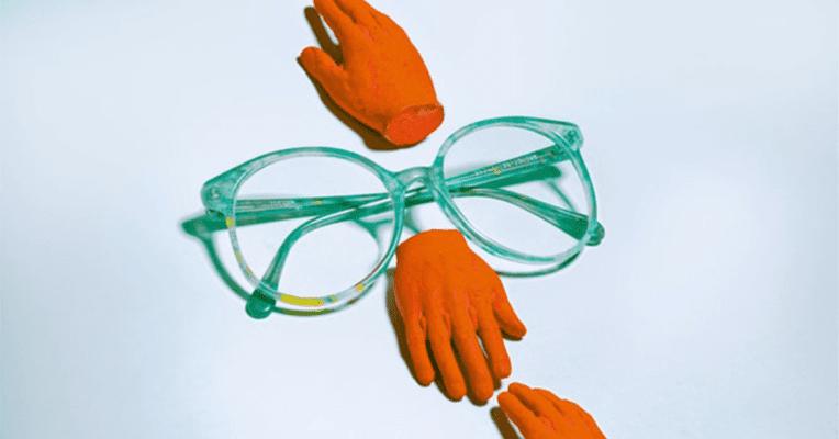 illysrrasjon av synlighet, briller med hvit bakgrunn