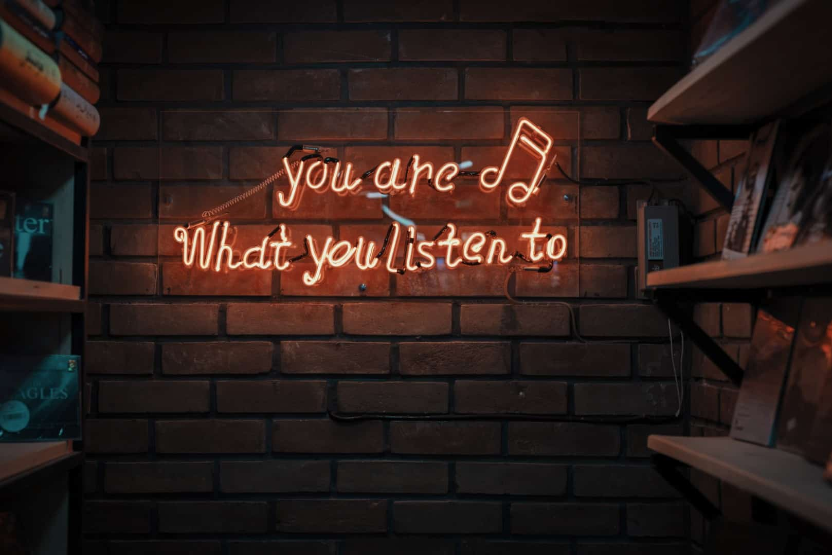 skilt med you are what you listen to