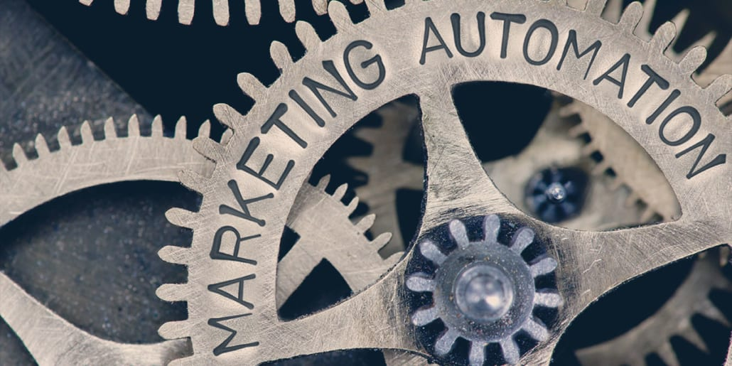 Tannhjul hvor det står marketing automation