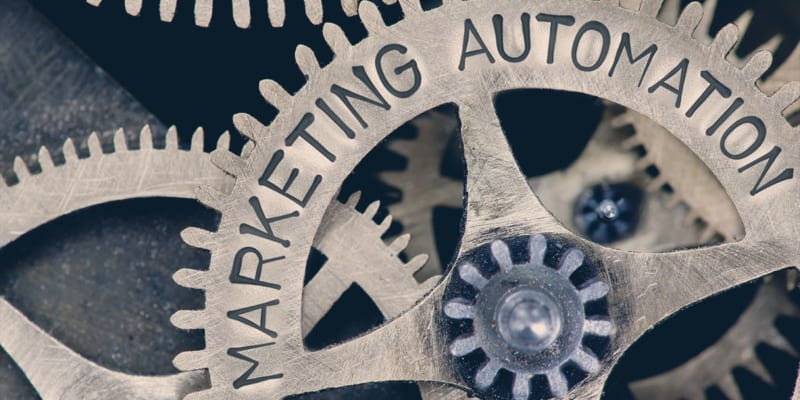 Tannhjul hvor det står marketing automation