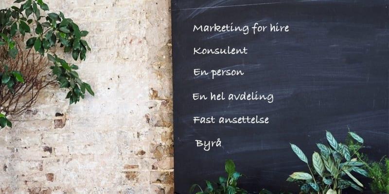 Hva koster marketing for hire?