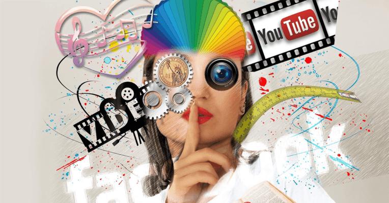 poster av ulike some-kanaler som kan brukes til innholdsspredning