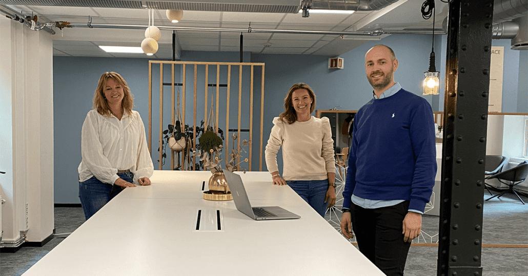 Trine, Kjersti og Benjamin på kontoret og kan hjelpe deg med sales for hire