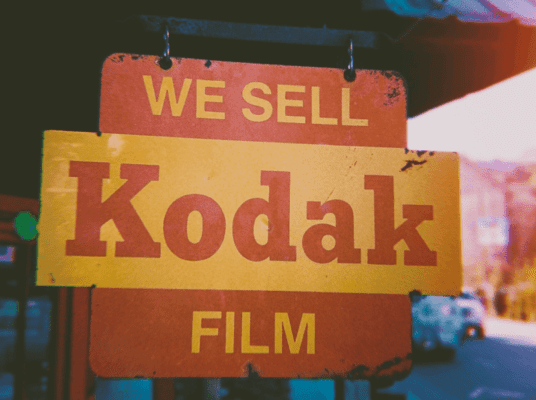 Retro Kodak-skilt