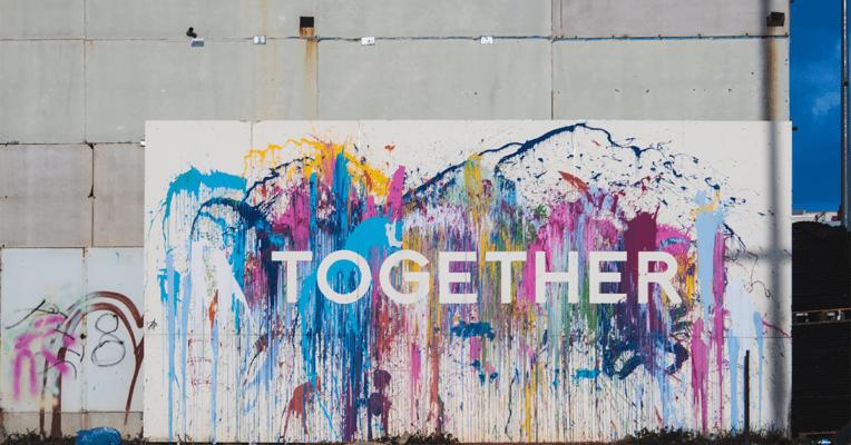 Inbound Marketing: Graffiti med teksten: Together